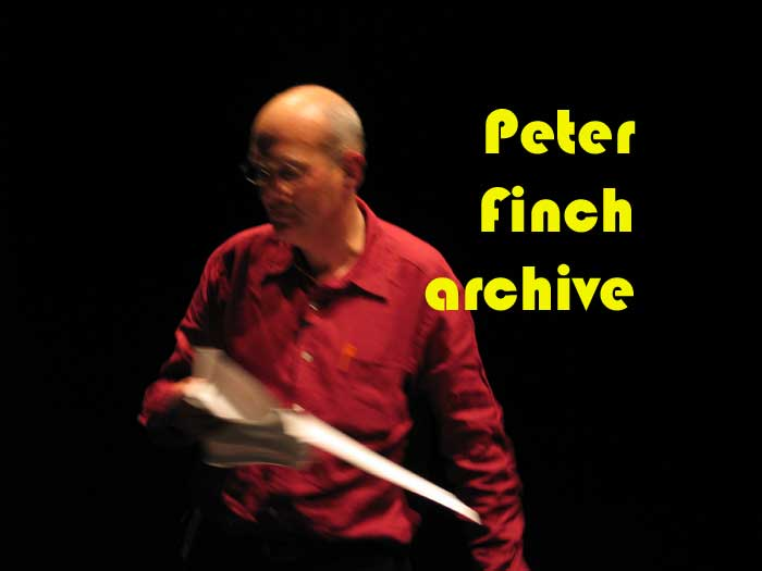 The Peter Finch Archive - click to enter