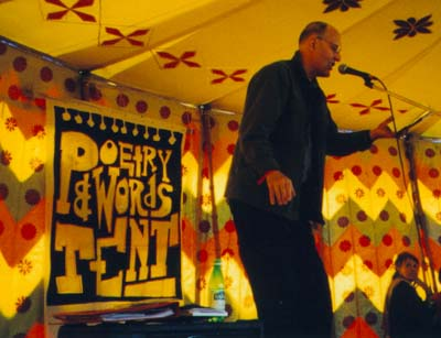 Peter Finch at Glastonbury 1999